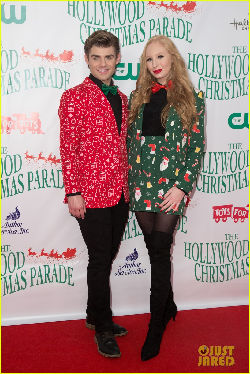 garrett clayton ceelo green more step out for hollywood christmas parade 2017