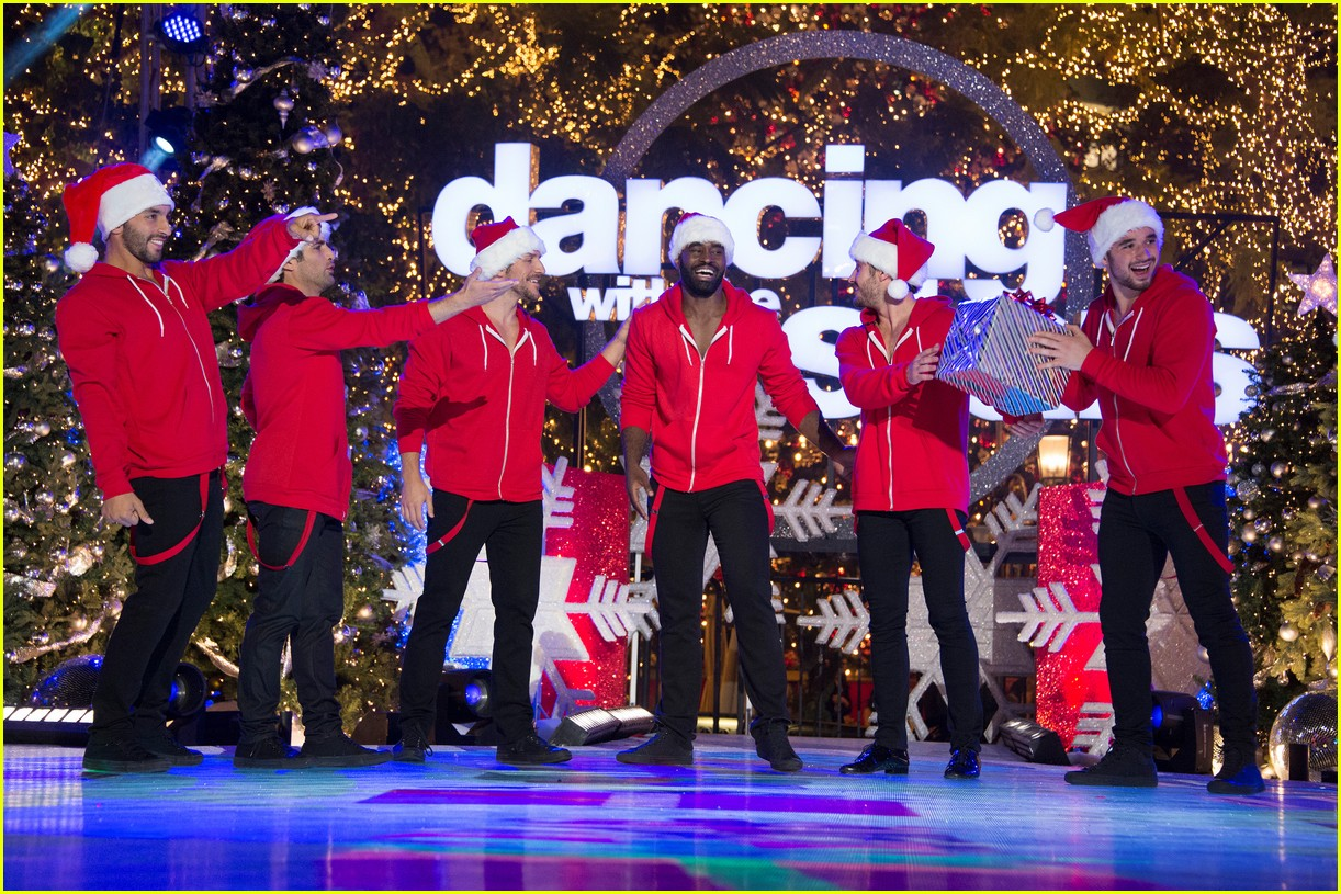 dancing with the stars men go shirtless sexy santas 073991455