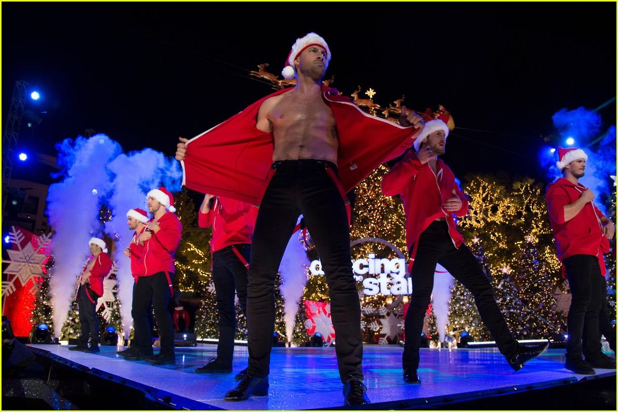 dancing with the stars men go shirtless sexy santas 093991457