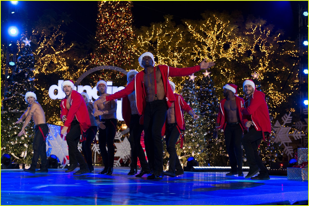 dancing with the stars men go shirtless sexy santas 143991462