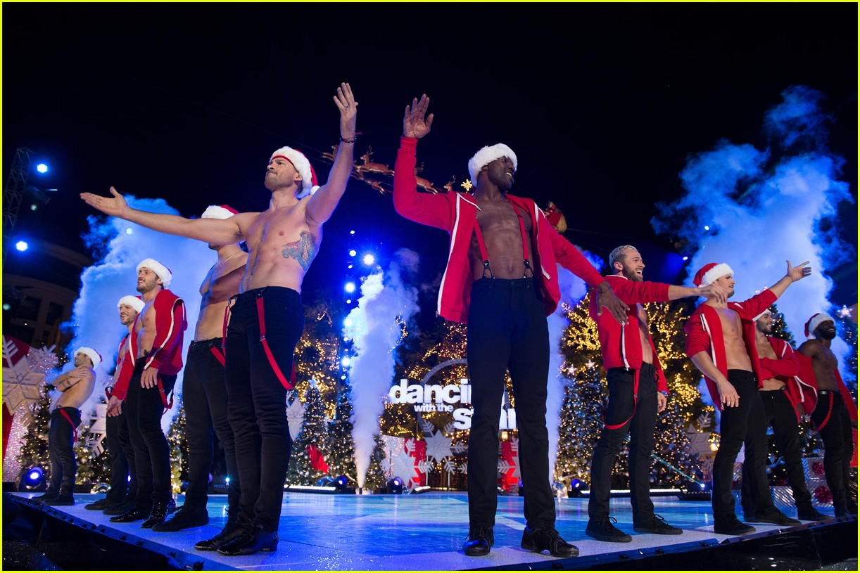 dancing with the stars men go shirtless sexy santas 173991465