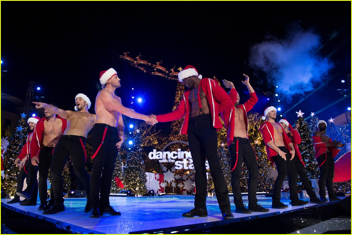 dancing with the stars men go shirtless sexy santas 183991466