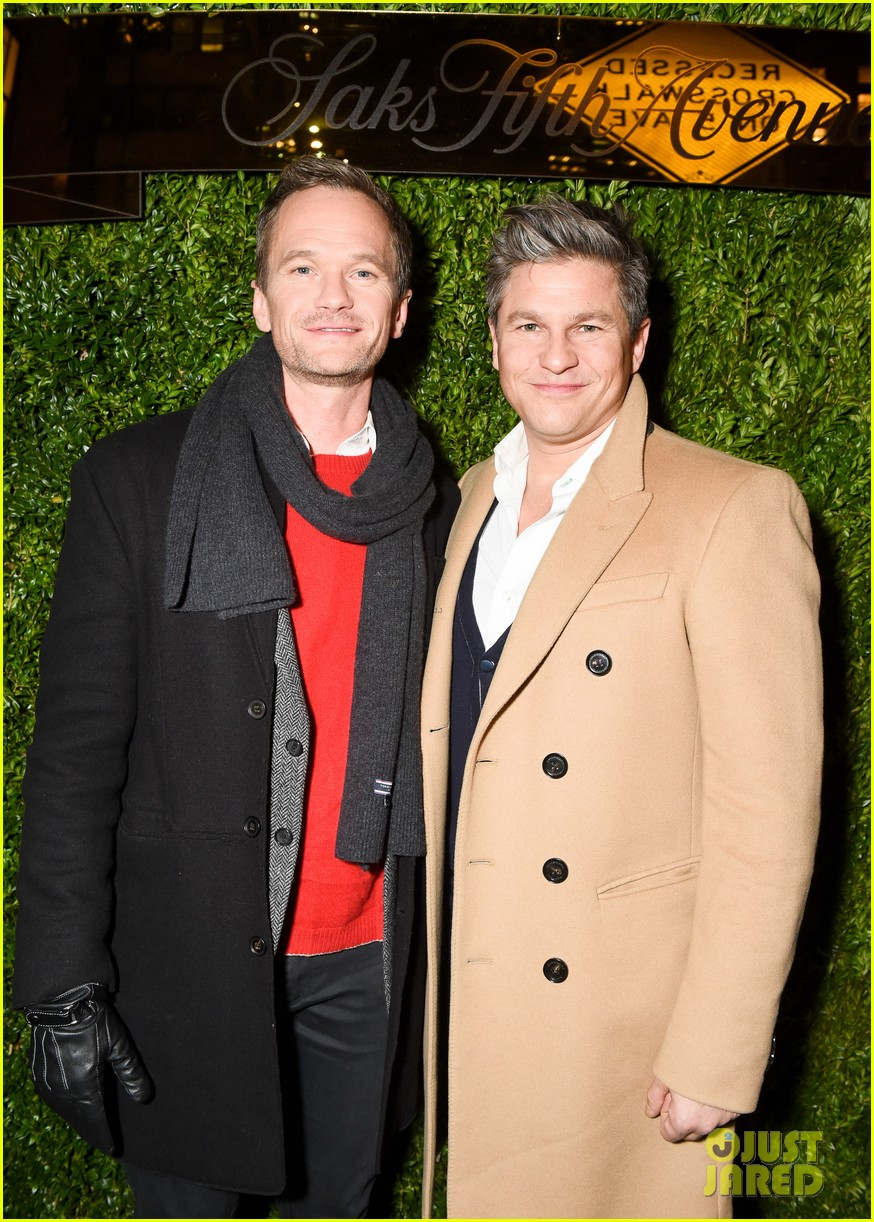 neil patrick harris david burtka make it a family affair at saks fifth avenue 243991167