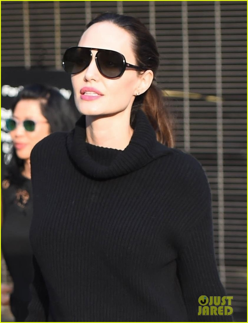 angelina jolie looks chic greeting fans in hollywood 023982370
