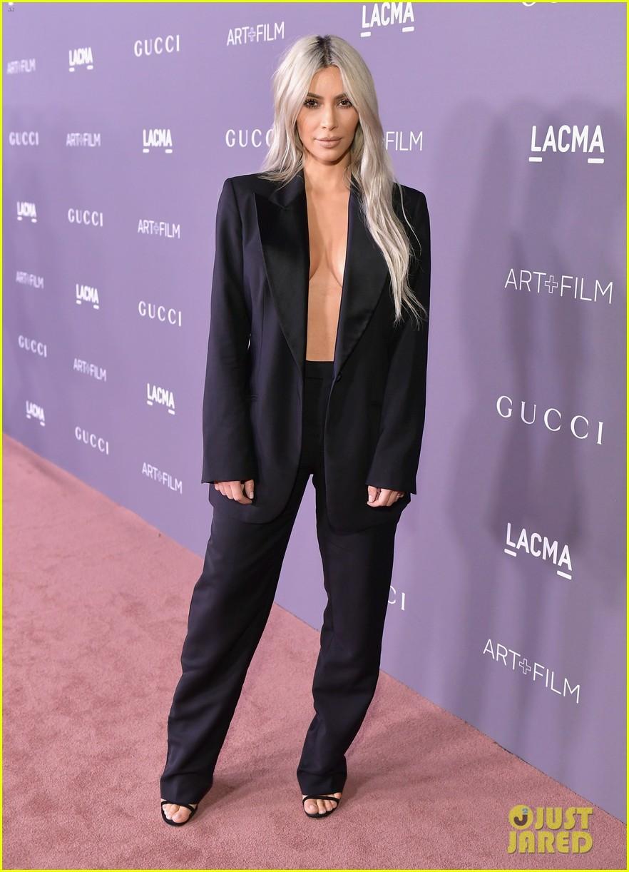 kim kardashian goes braless for lacma gala 033982409