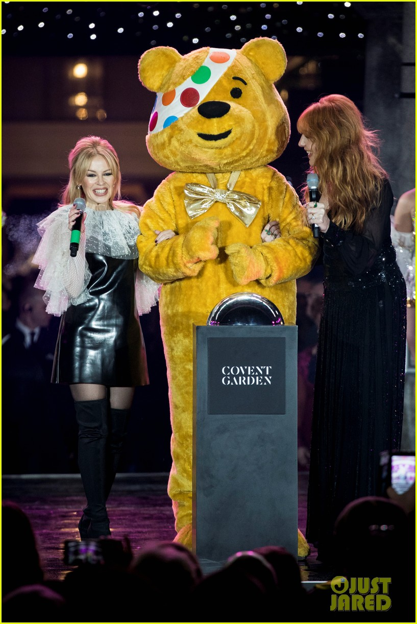 Kylie Minogue Switches On The Covent Garden Christmas Lights In