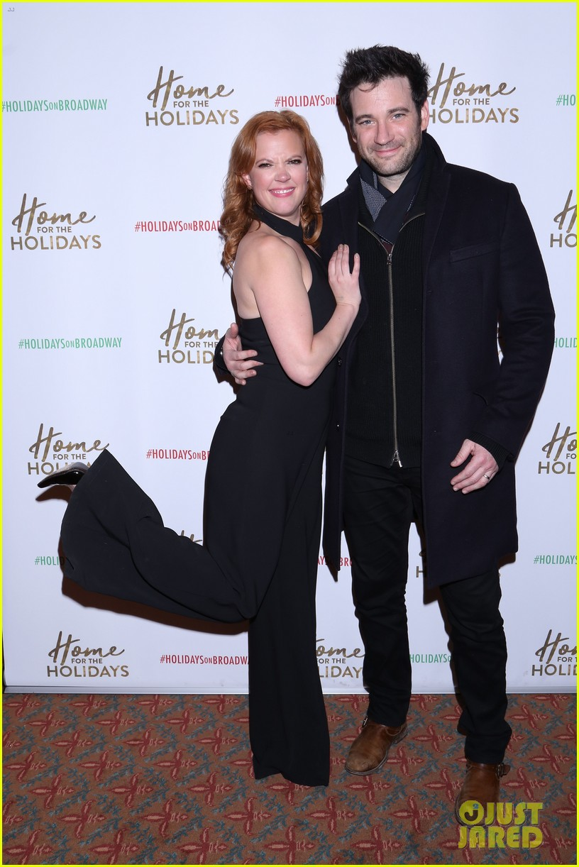 andrew rannells colin donnell step out to support home for the holidays broadway 013991672