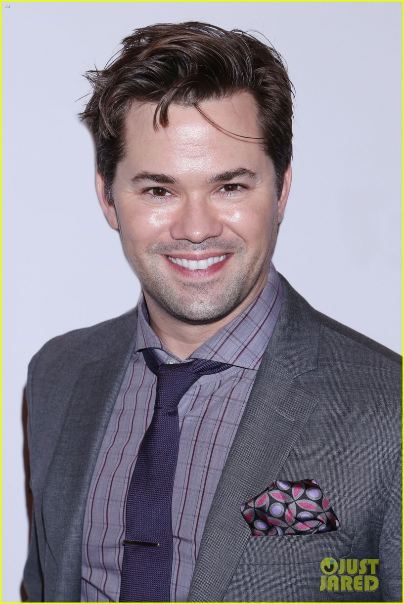 andrew rannells colin donnell step out to support home for the holidays broadway 043991675