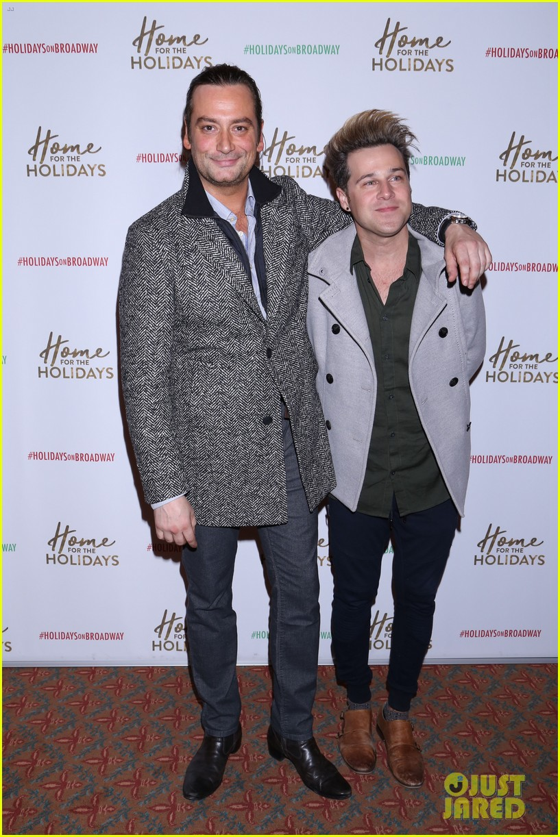 andrew rannells colin donnell step out to support home for the holidays broadway 053991676