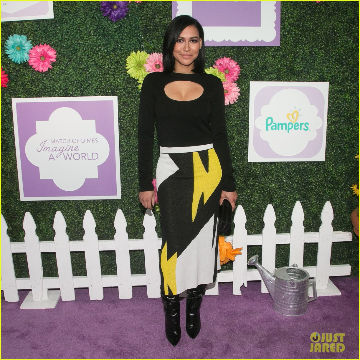naya rivera steps out for march of dime imagine a world premiere 033985369