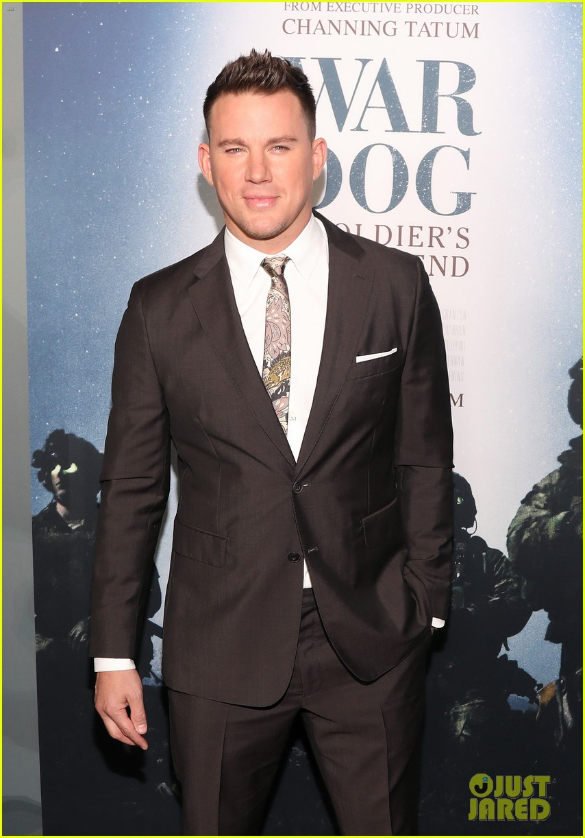 channing tatum premieres documentary war dog a soldiers best friend with wife jenna 023983711