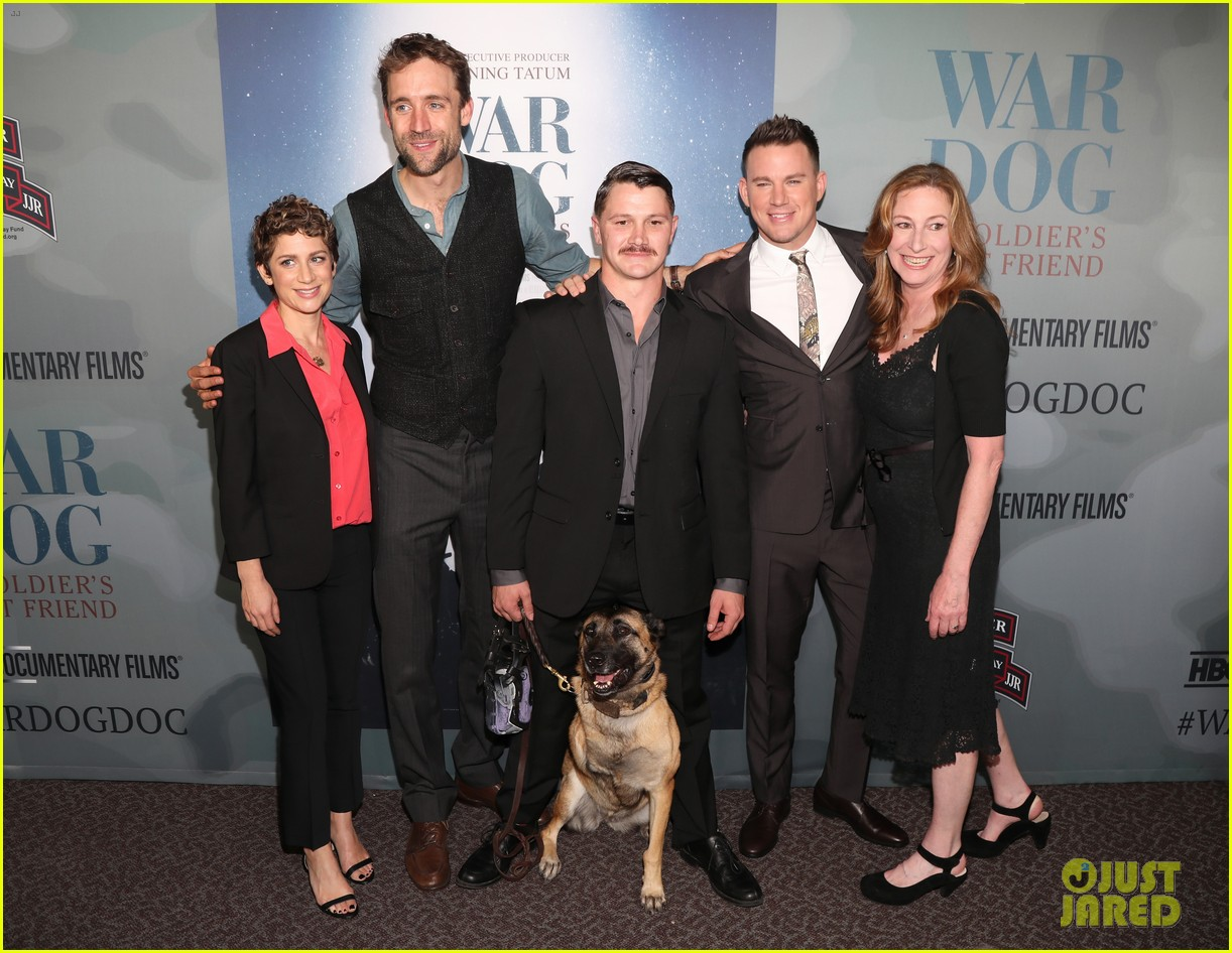 channing tatum premieres documentary war dog a soldiers best friend with wife jenna 033983712