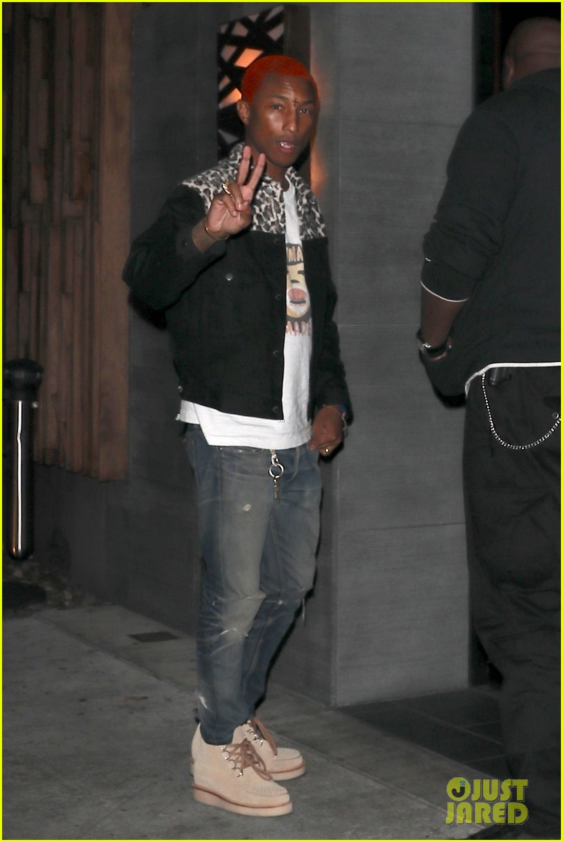 pharrell williams debuts red hair at dinner in weho 033994319