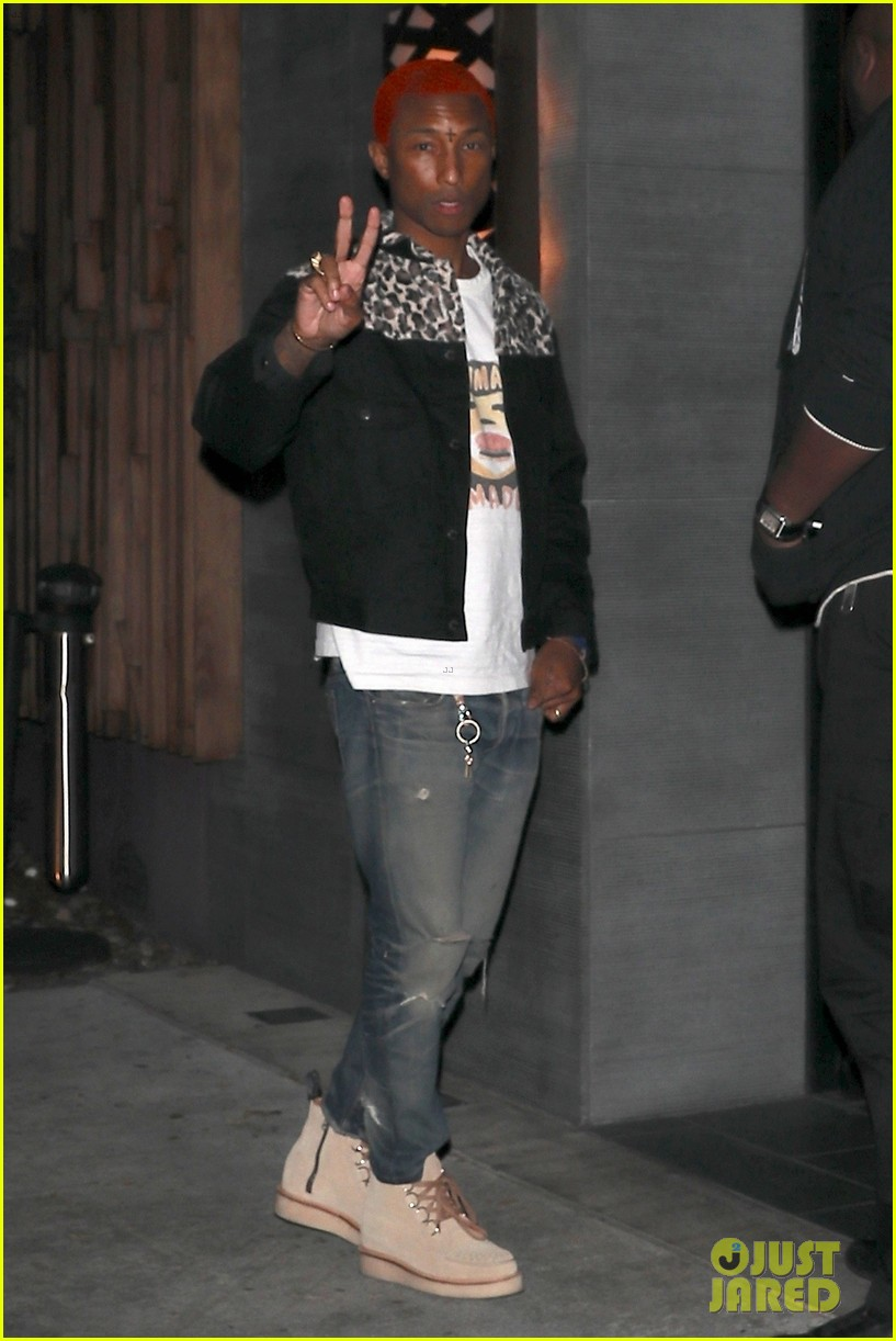 pharrell williams debuts red hair at dinner in weho 053994321