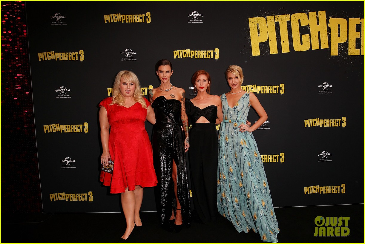 rebel wilson ruby rose brittany snow anna camp premiere pitch perfect 3 in australia 193993946