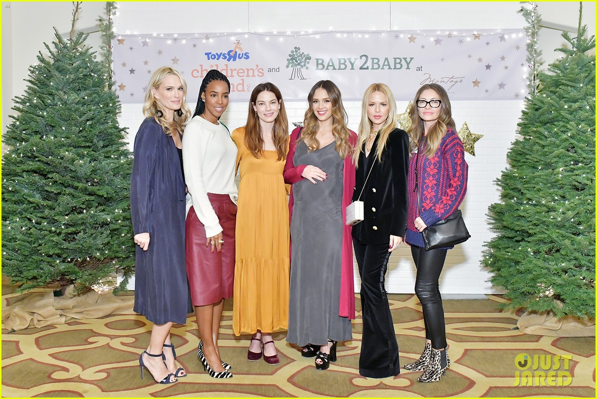 jessica alba kelly rowland michelle monaghan more celebrate at baby2baby holiday 354002560