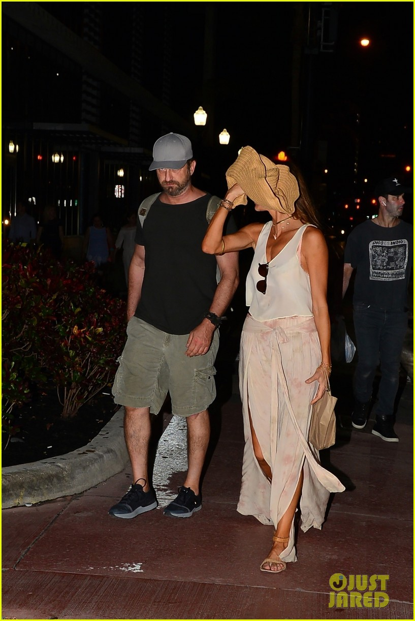 gerard butler girlfriend morgan brown enjoy a night in miami 073999454