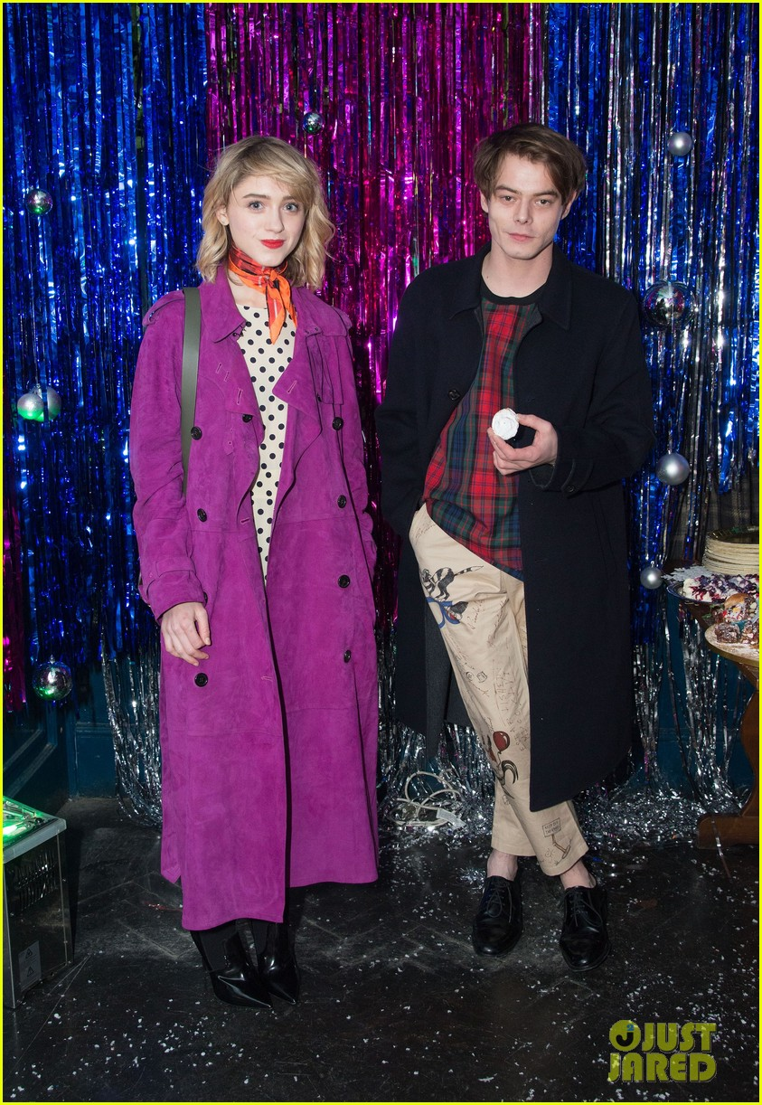 natalia dyer charlie heaton couple up for cara delevingne holiday party 033996004