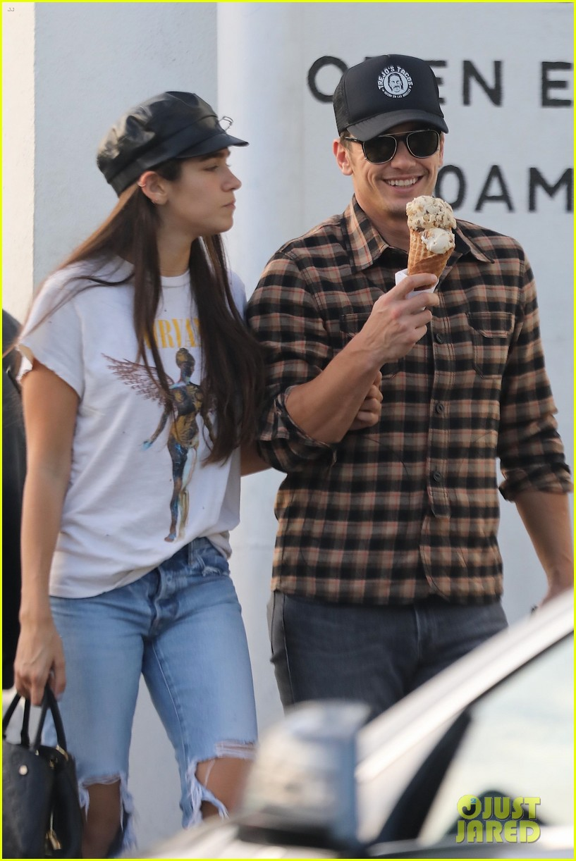 james franco girlfriend isabel pakzad share a kiss ice cream 054000561