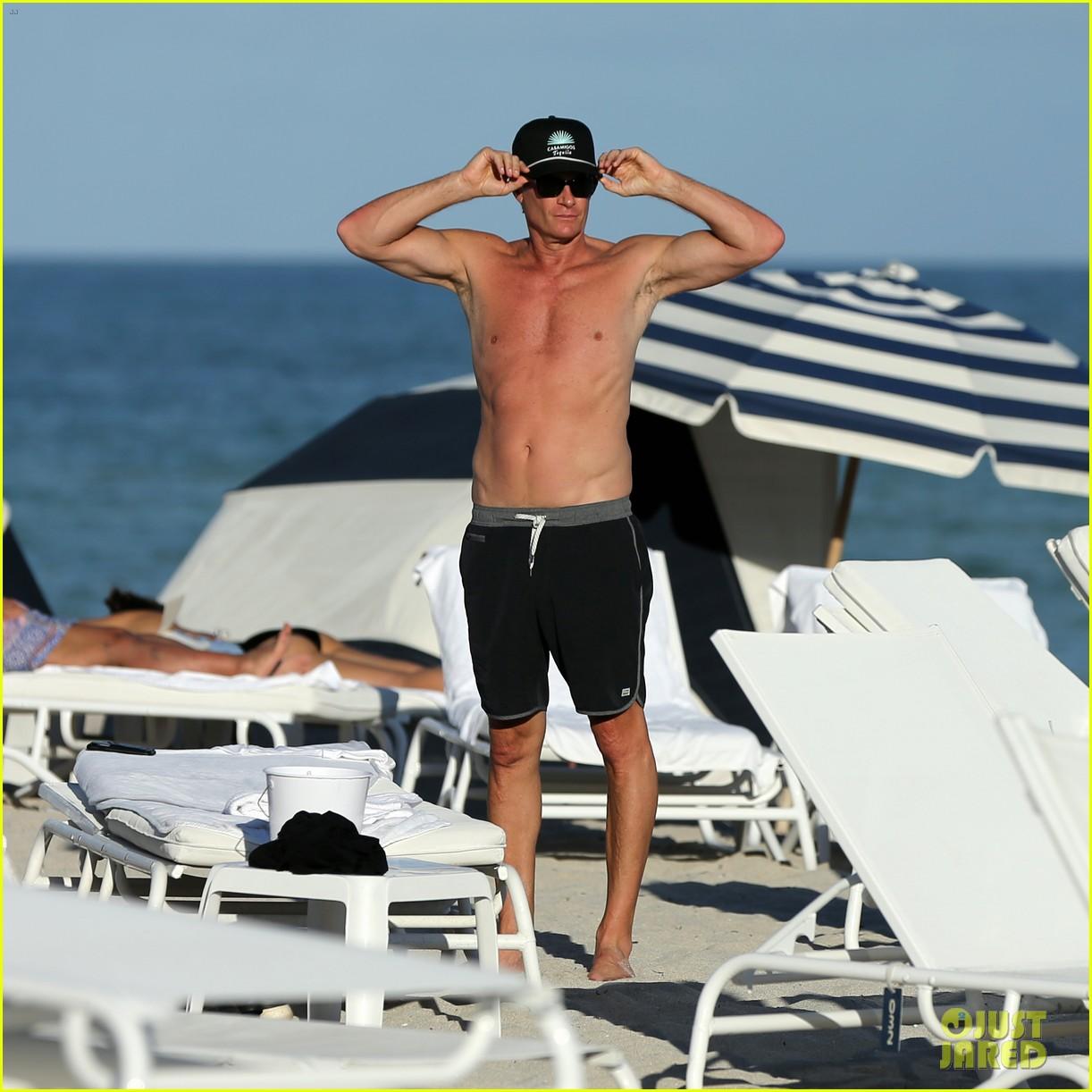 presley gerber dad rande gerber go shirtless in miami 083998094
