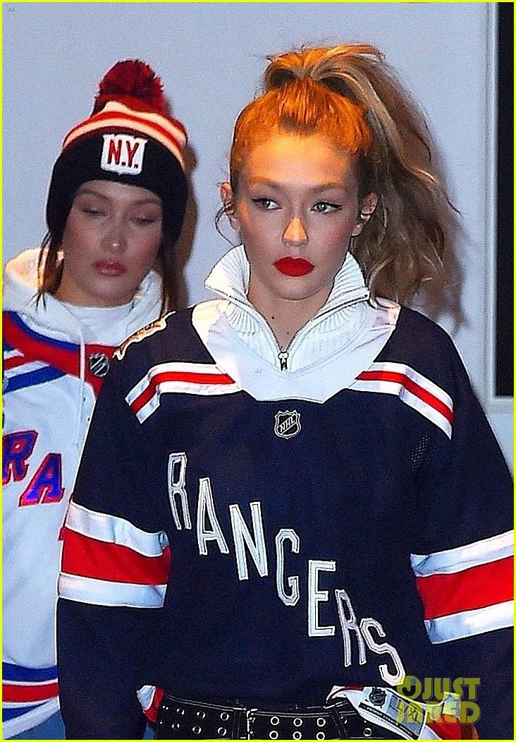 gigi bella hadid head to a rangers hockey game in nyc 044003122