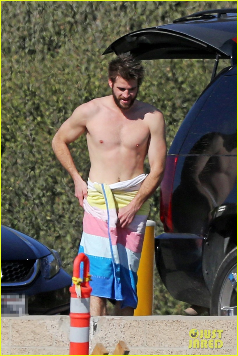 Liam Hemsworth Gets Shirtless After Surfing In Malibu