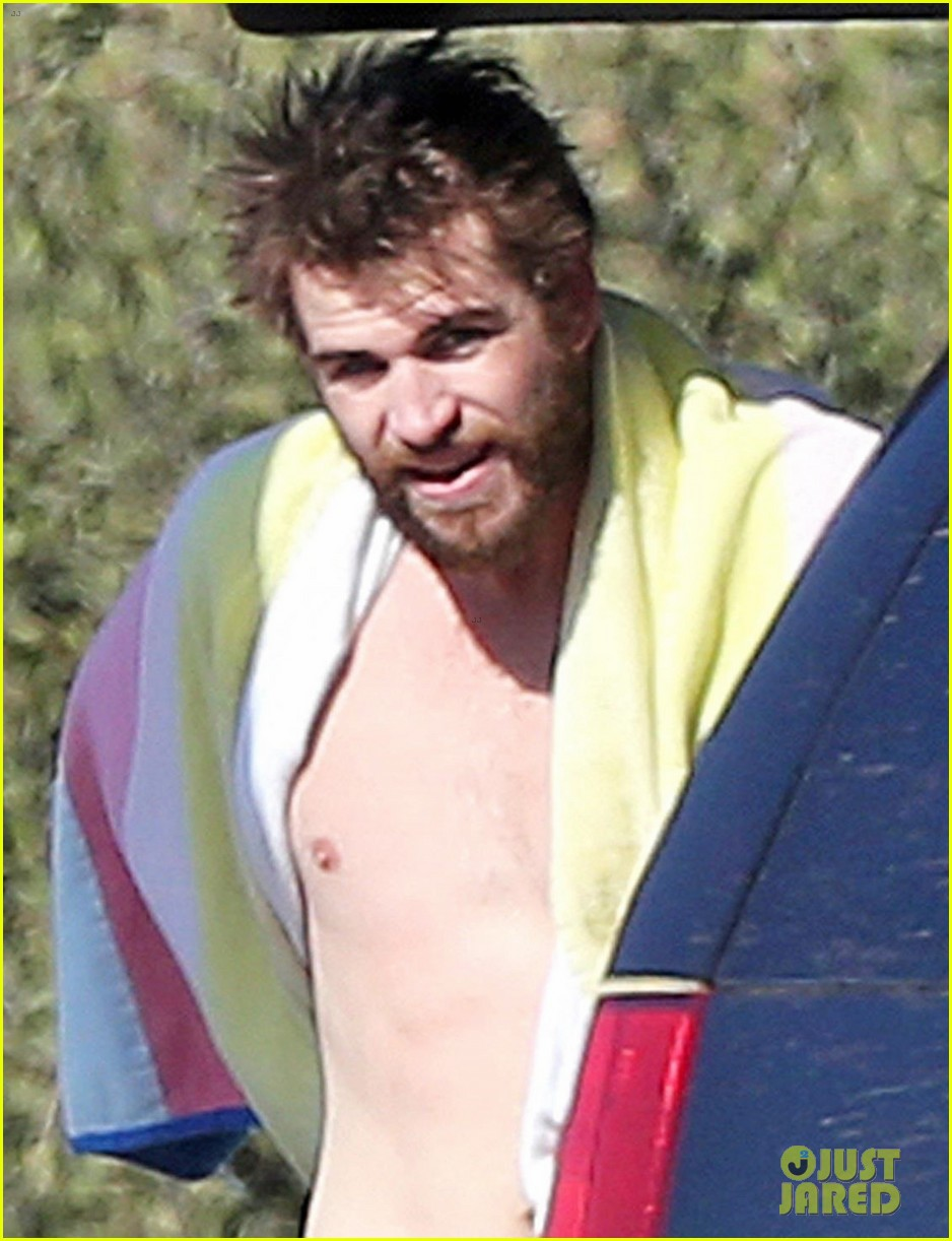 liam hemsworth gets shirtless after surfing in malibu see pics 064001825