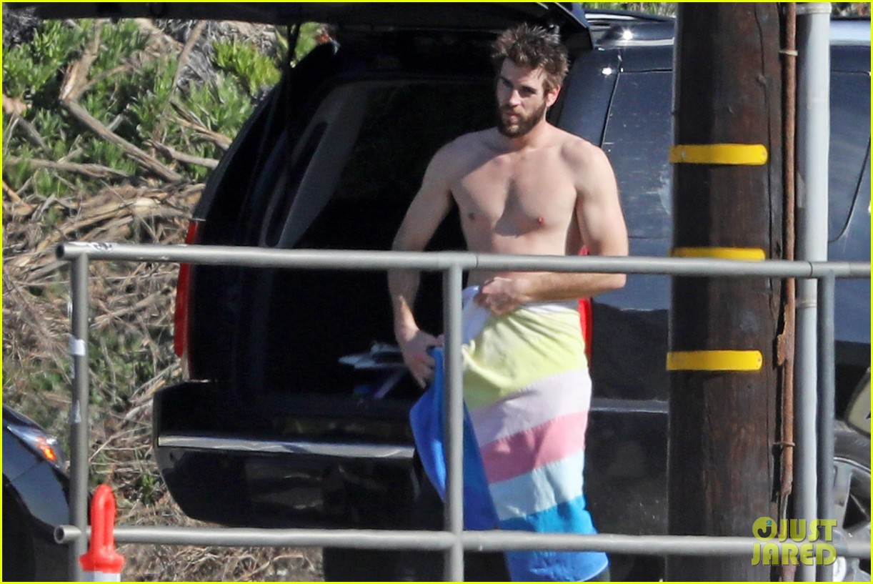 liam hemsworth gets shirtless after surfing in malibu see pics 104001829