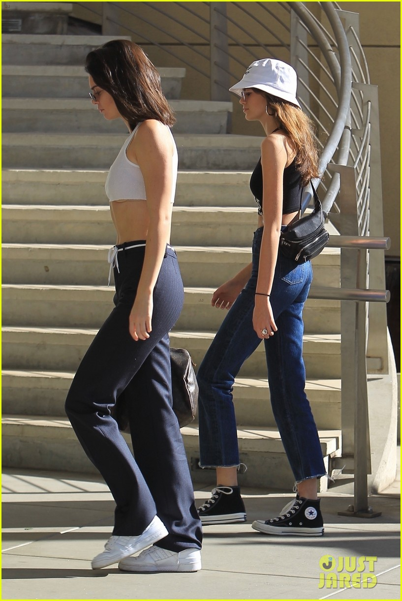 kendall jenner and kaia gerber rock crop tops while shopping 024001028