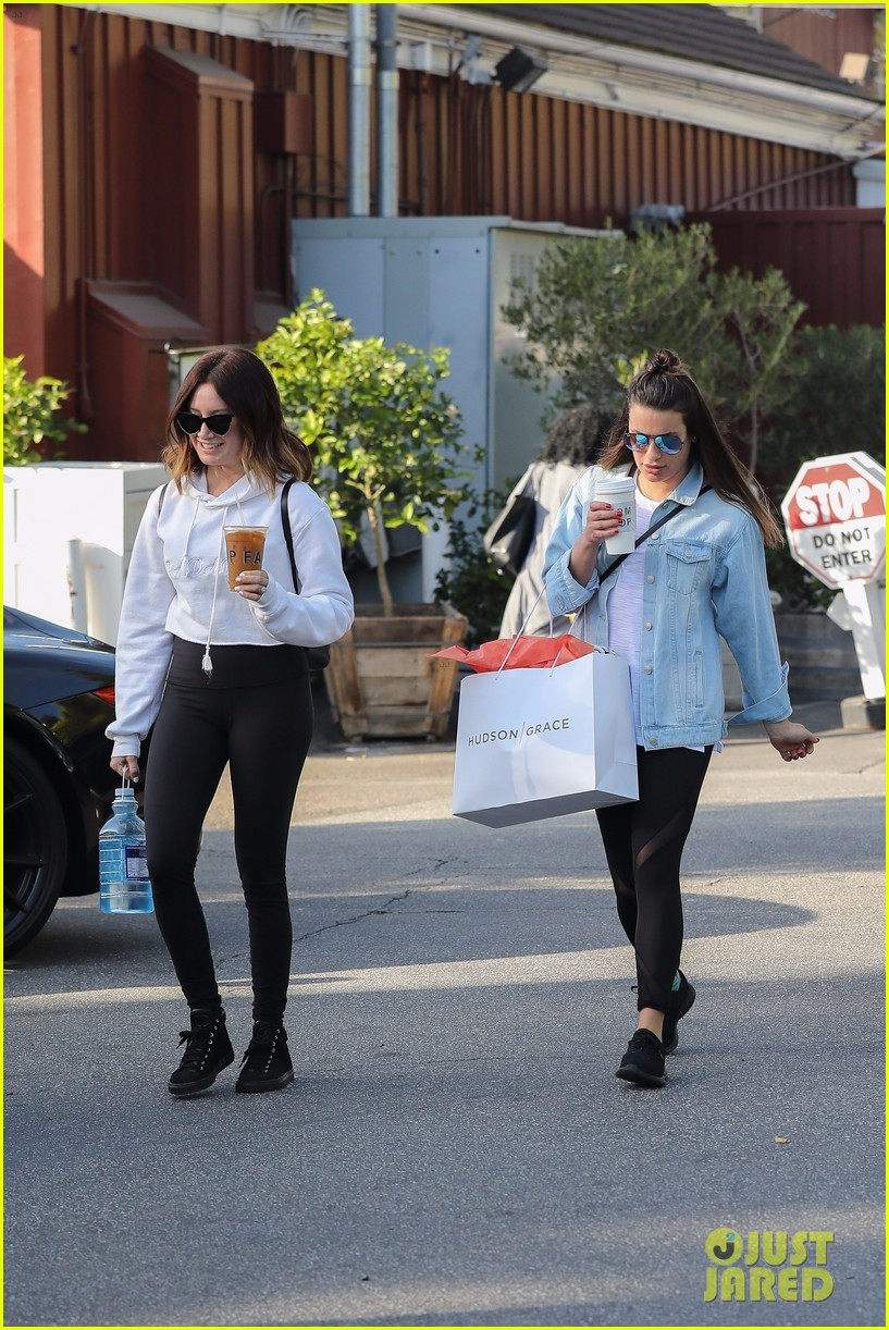 lea michele ashley tisdale hang out sunday 033996639