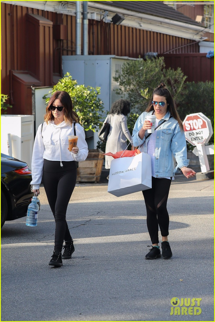 lea michele ashley tisdale hang out sunday 043996640