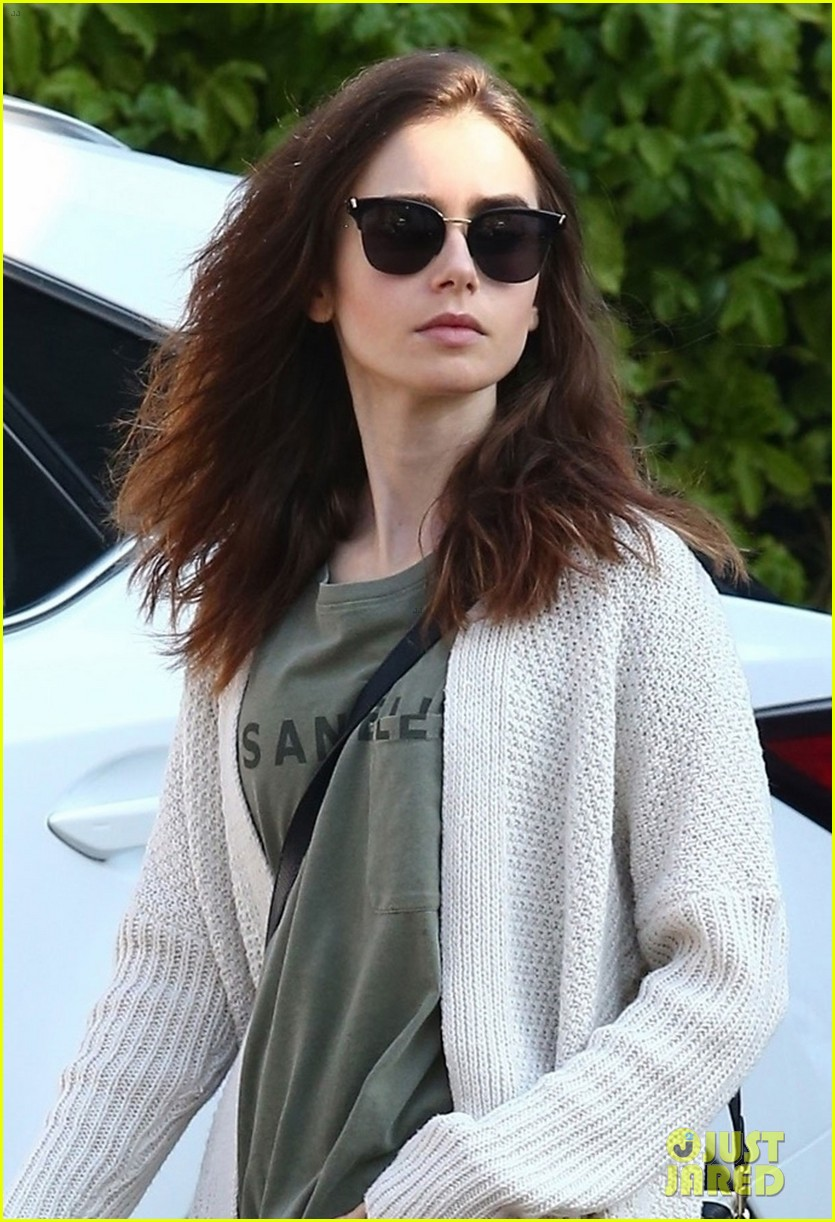 lily collins is off to the countryside for the holidays 024002411