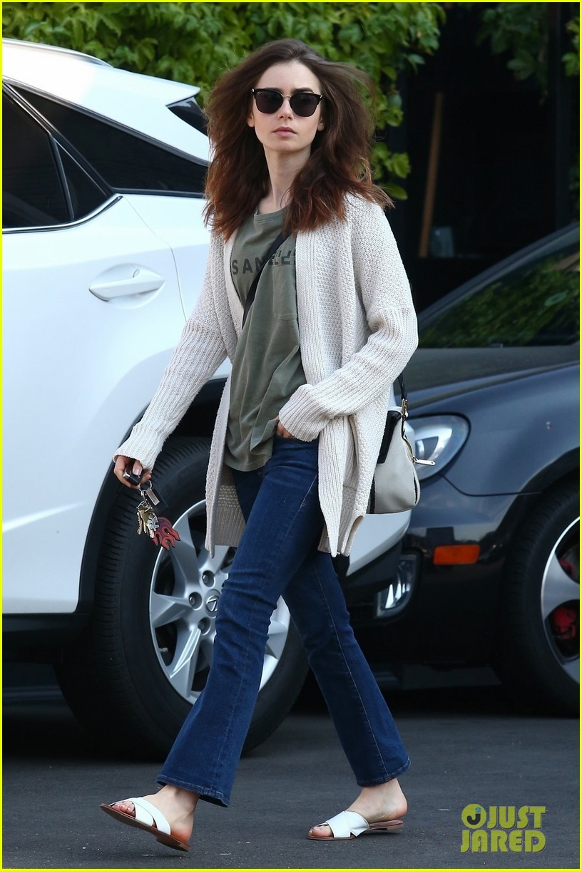lily collins is off to the countryside for the holidays 034002412