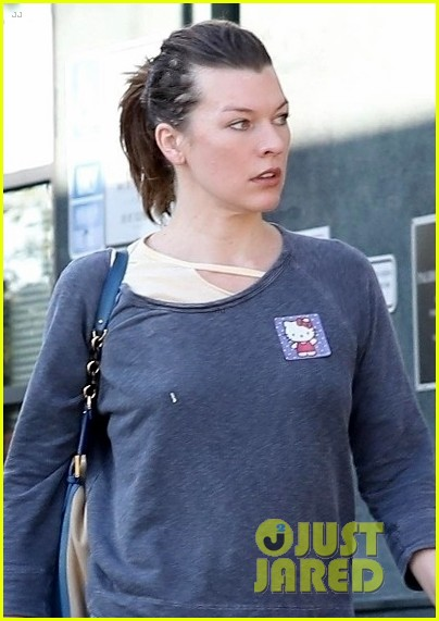 milla jovovich treats herself to a spa day in weho 044005174