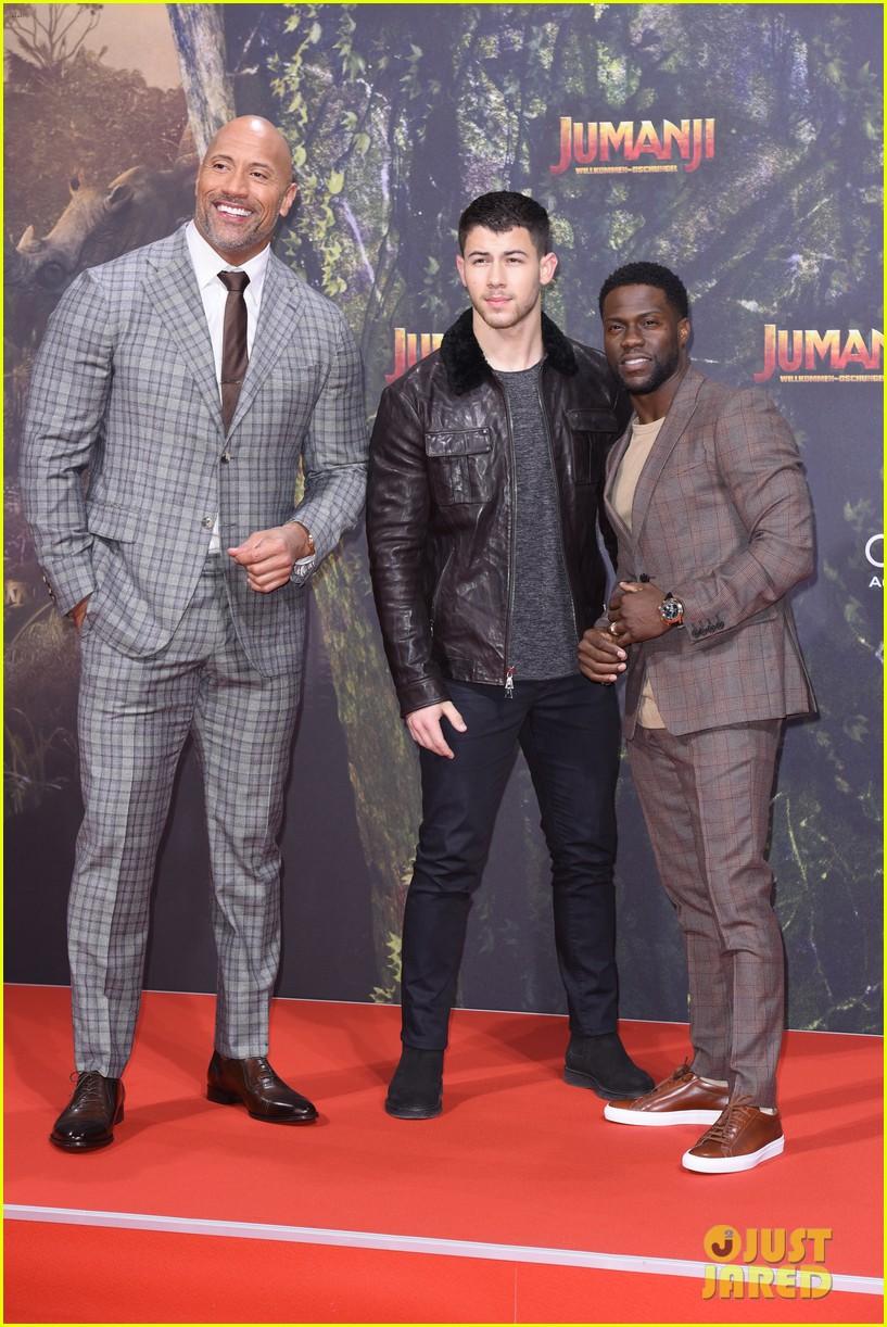 Nick Jonas Dwayne Johnson Kevin Hart Continue Jumanji