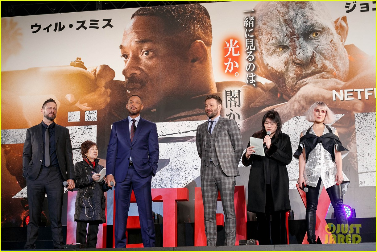 will smith co stars noomi rapace joel edgerton hit tokyo for bright premiere 084002940