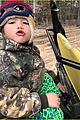 gwen stefani blake shelton enjoy a day in the woods with her kids 03