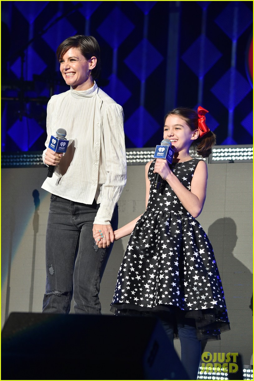 katie holmes daughter suri introduce taylor swift at z100 jingle ball in nyc 023999325