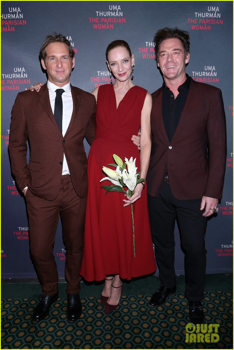 uma thurman josh lucas get support from debra messing more at the parisian woman 273995315