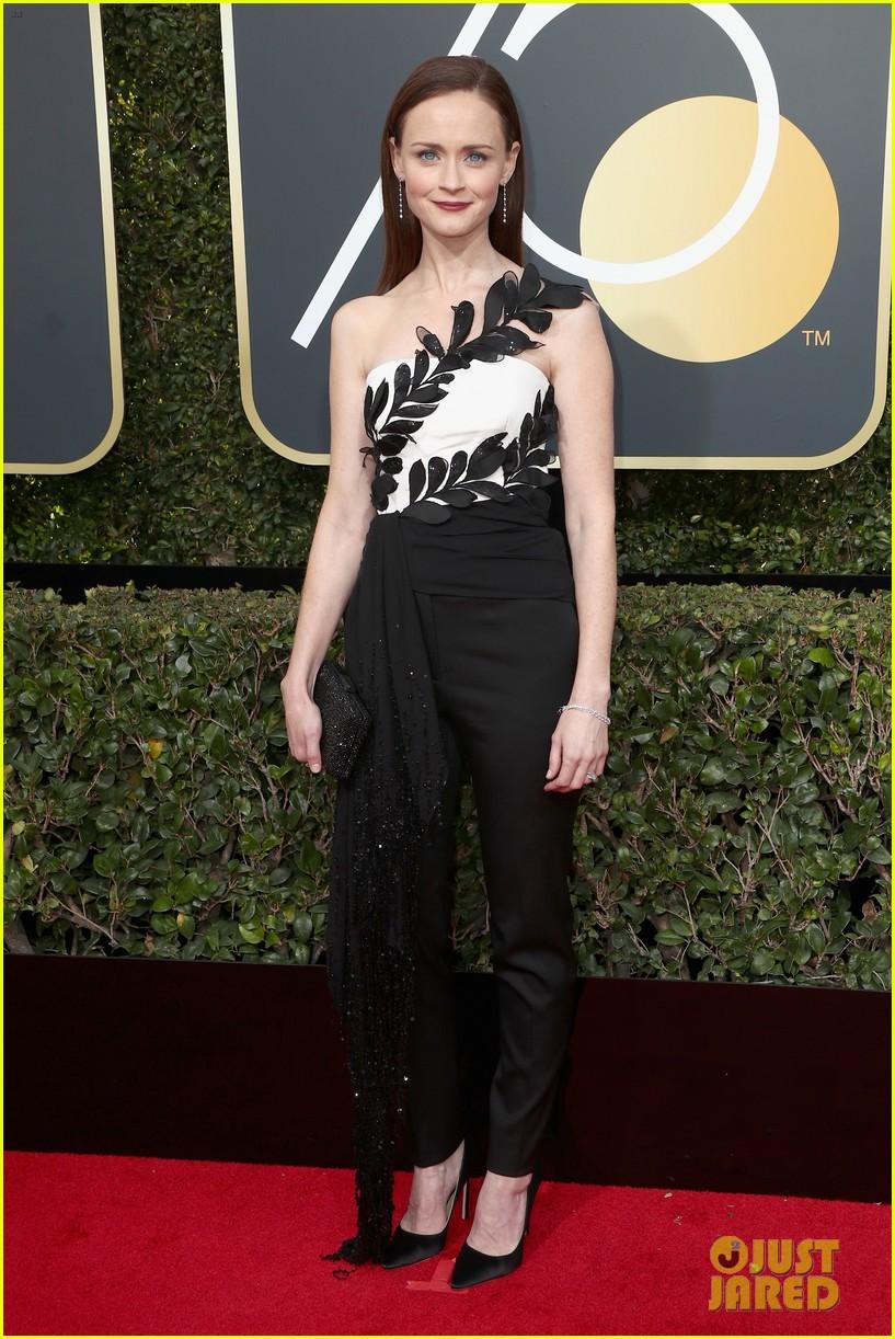 Alexis Bledel Wears Pants To Golden Globes 2018