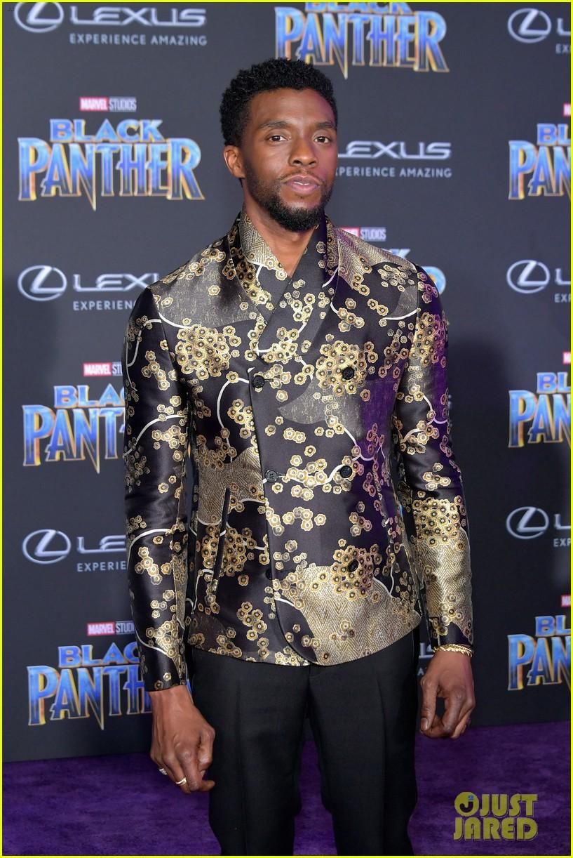 ee594599a Chadwick Boseman & Michael B. Jordan Look Sharp at 'Black Panther ...