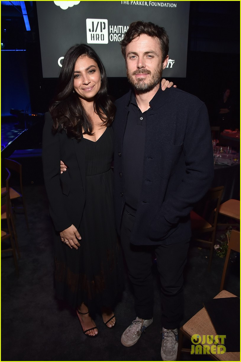 casey affleck amp floriana lima attend sean penns charity