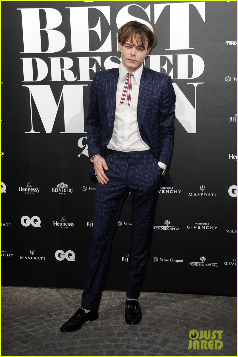 charlie heaton patrick gibson look so stylish at gq best dressed event 084014308