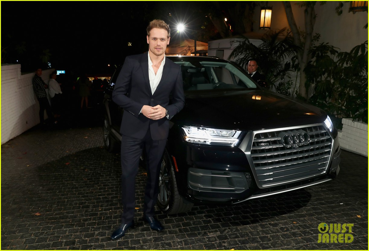 sam heughan caitriona balfe step out for w magazines pre golden globes party 014007783