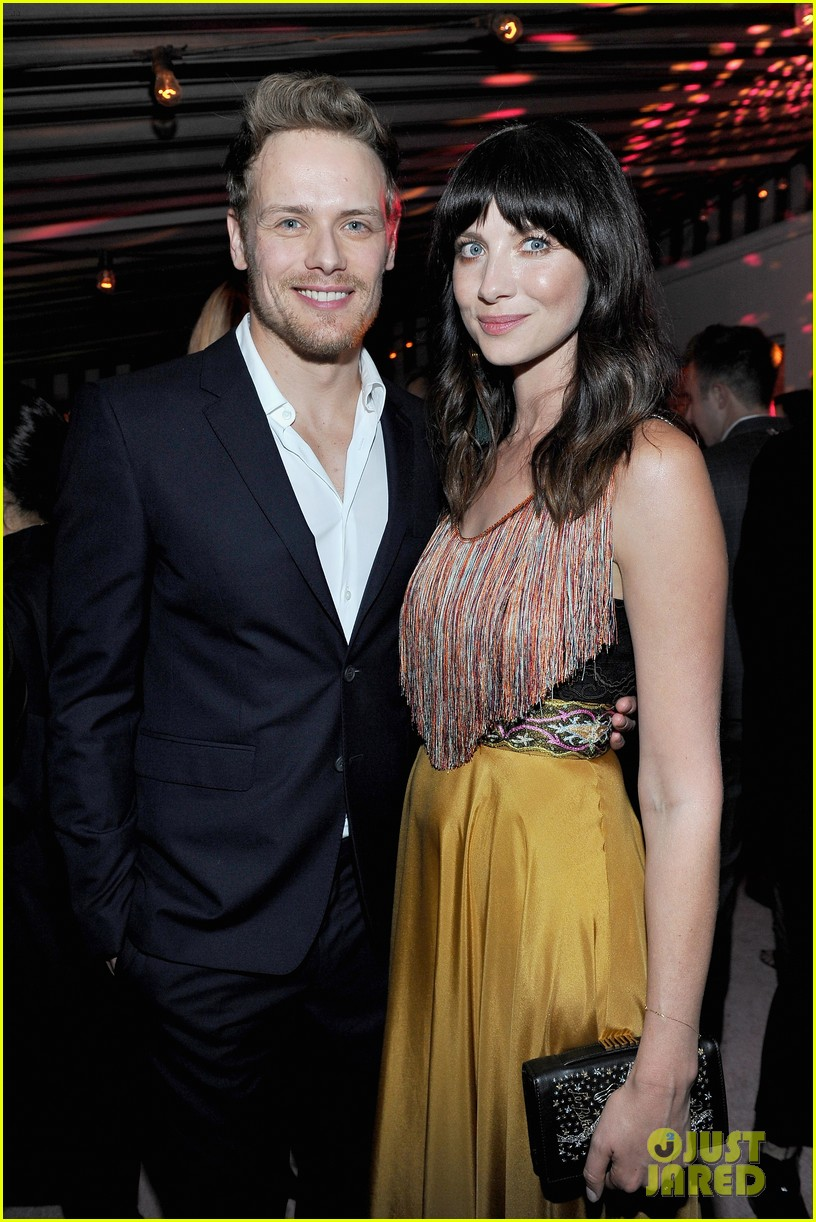 sam heughan caitriona balfe step out for w magazines pre golden globes party 034007785