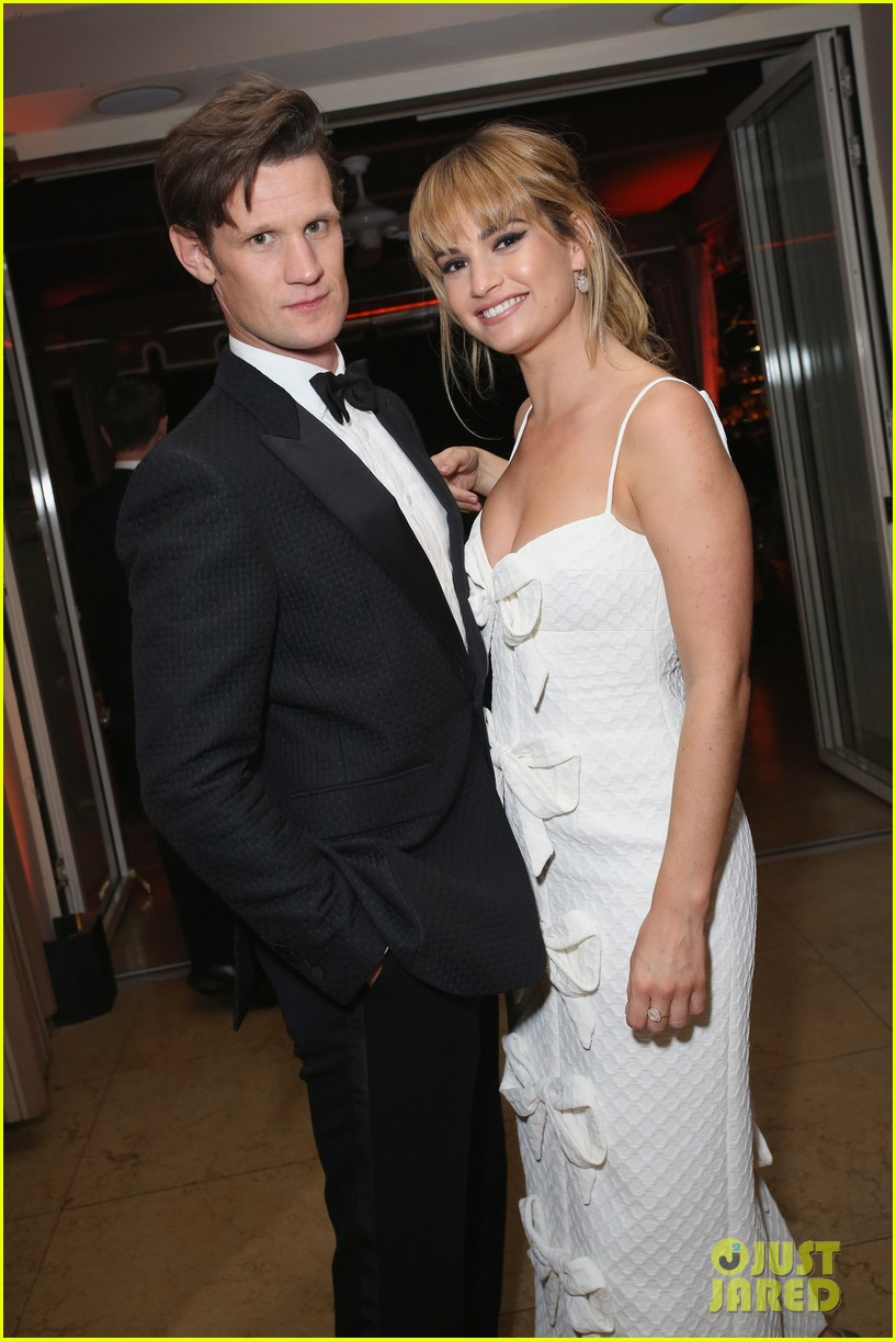 lily james joins boyfriend matt smith more at netflix sag awards after party 034019242