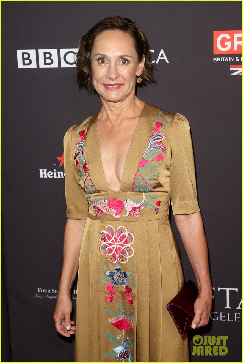 allison janney laurie metcalf step out for bafta tea party 034008800