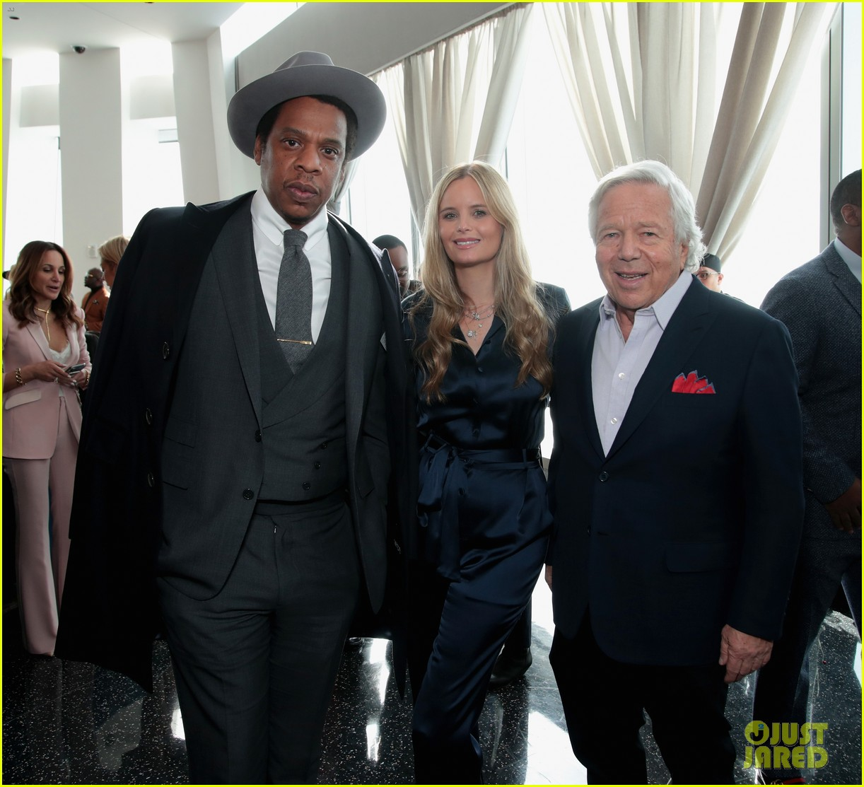 jay z joins diddy cassie at roc nation grammys 2018 brunch 024022091