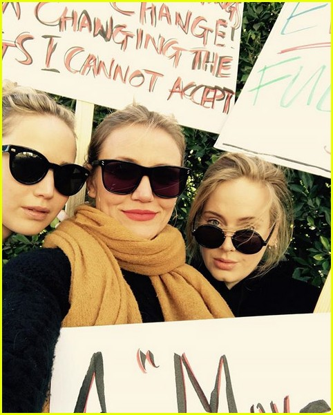 jennifer lawrence cameron diaz adele womens march 024017676