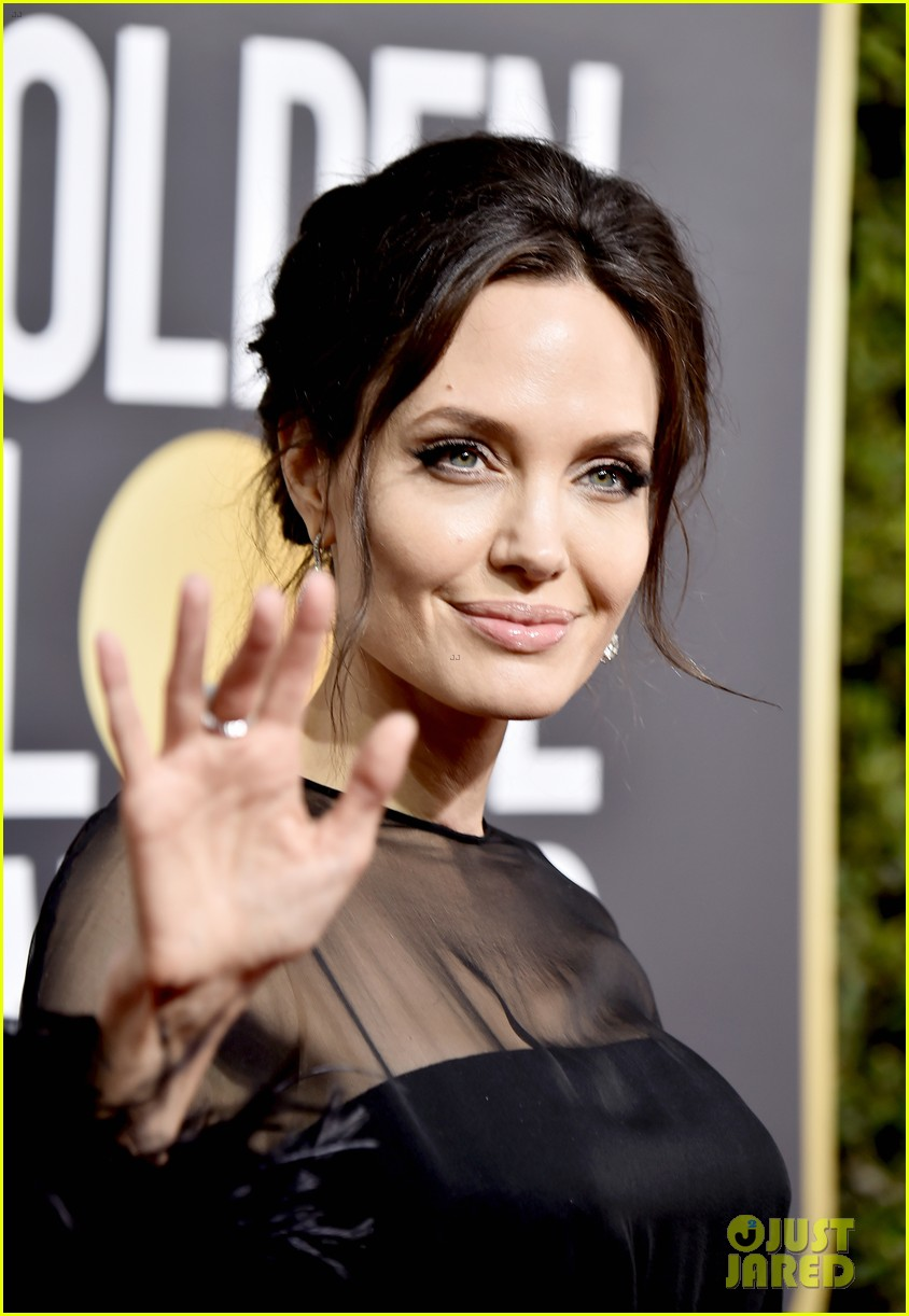 Angelina Jolie S Son Pax Wears Time S Up Pin At Golden